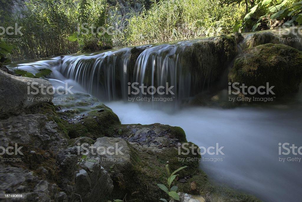 Waterfall - piltwickie lakes in Croatia royalty-free stock photo