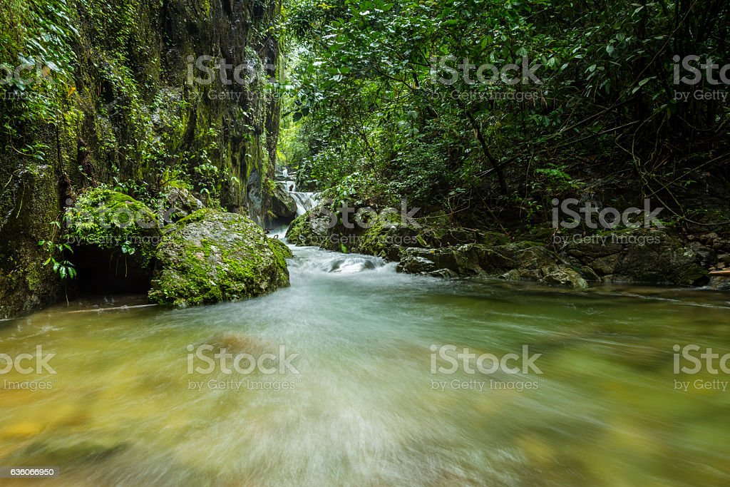 Waterfall Ple To Lo Su in Umphang, Tak Province, Thailand stock photo