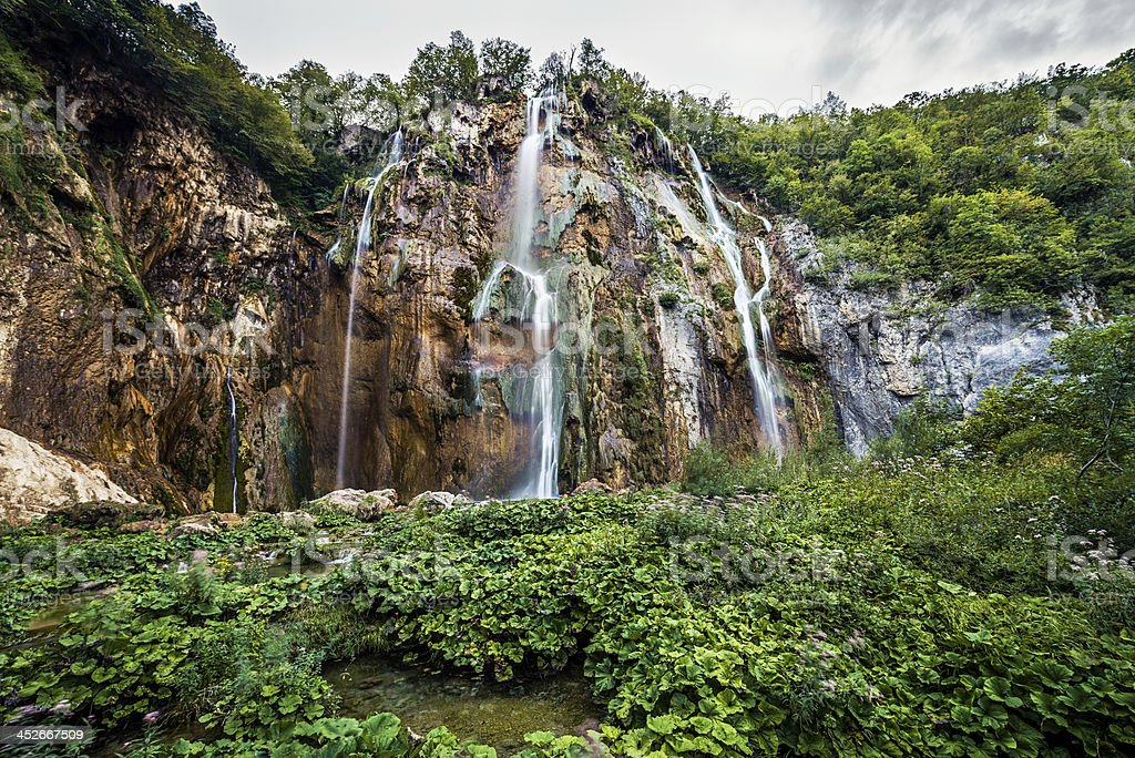 Waterfall Plitvice Lakes National Park, Croatia royalty-free stock photo