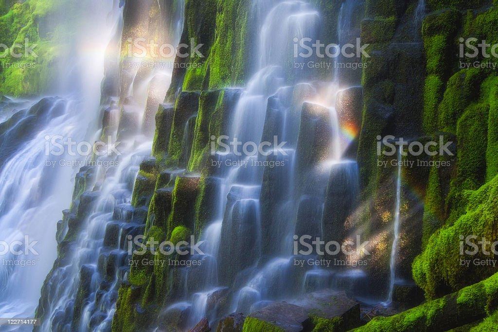 Waterfall Rainbow stock photo