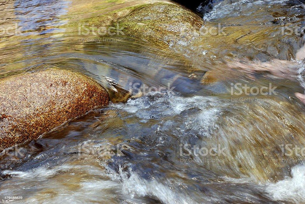 Cachoeira do Rio da manhã, Tailândia foto royalty-free