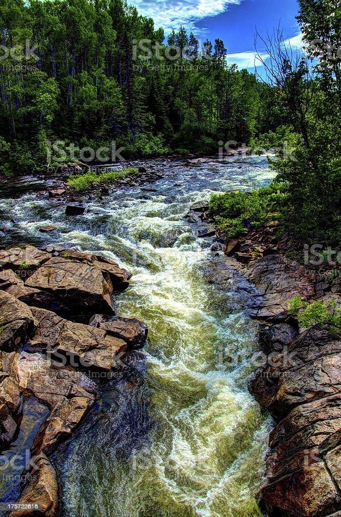 HDR, Waterfall, River, Stream, Zen, Falling Water stock photo