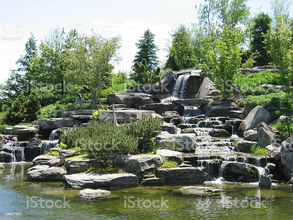 Waterfall Rocks stock photo