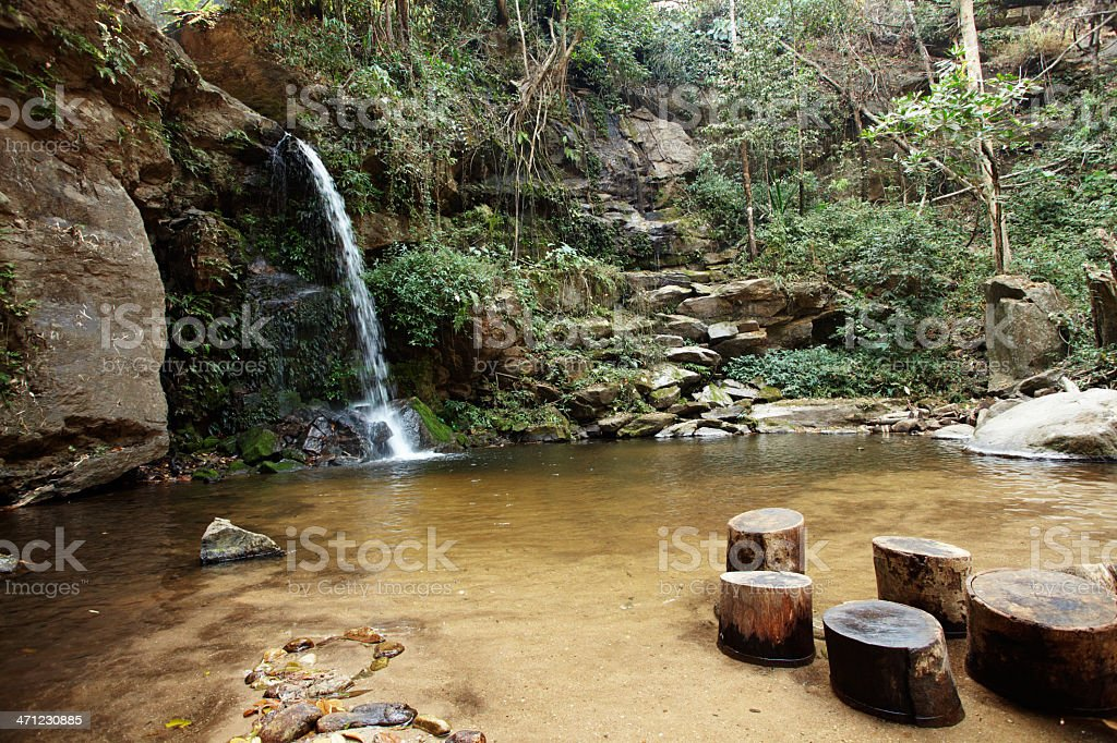 waterfall 'sai yoi' stock photo