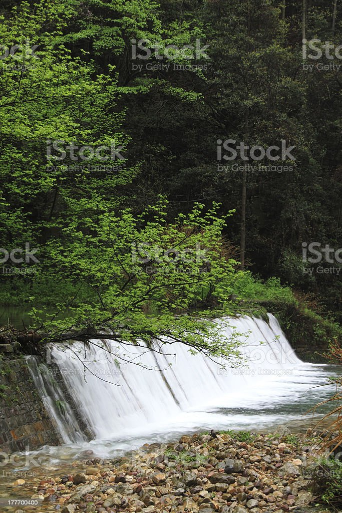 Waterfall scenery in Zhangjiajie National Geological Park stock photo