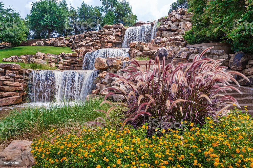 Waterfall, scenic attraction, Wichita Falls, Texas stock photo