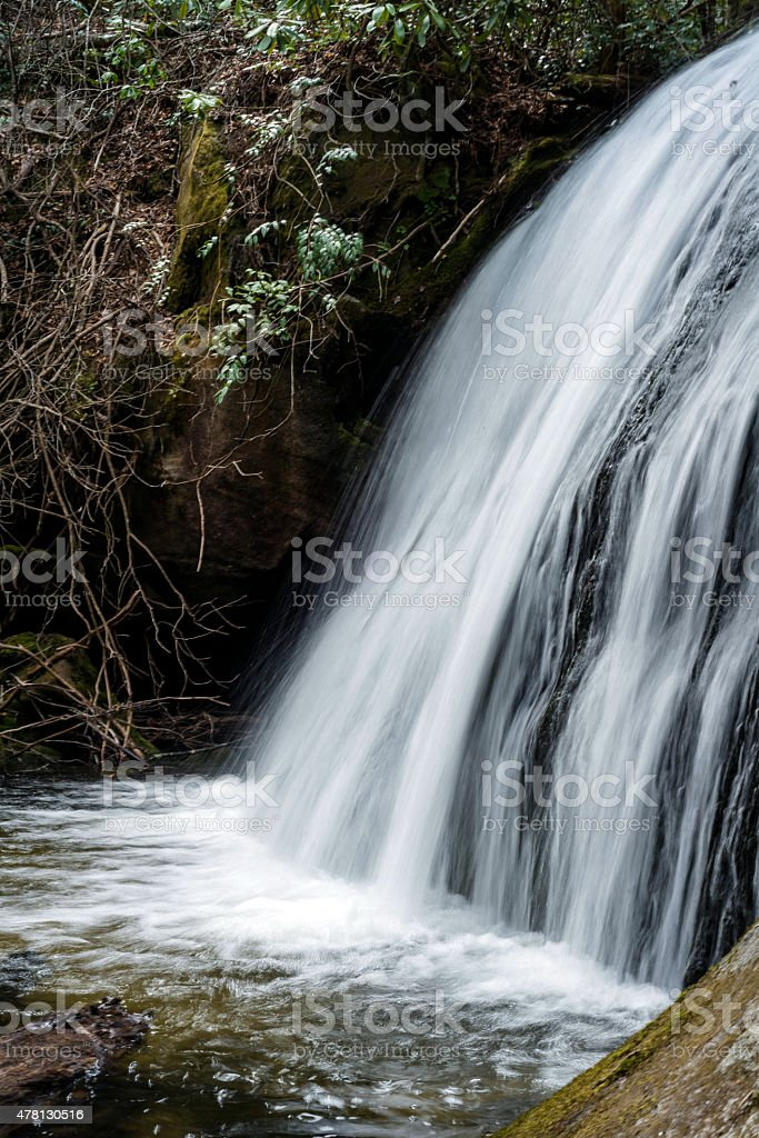 Waterfall section stock photo
