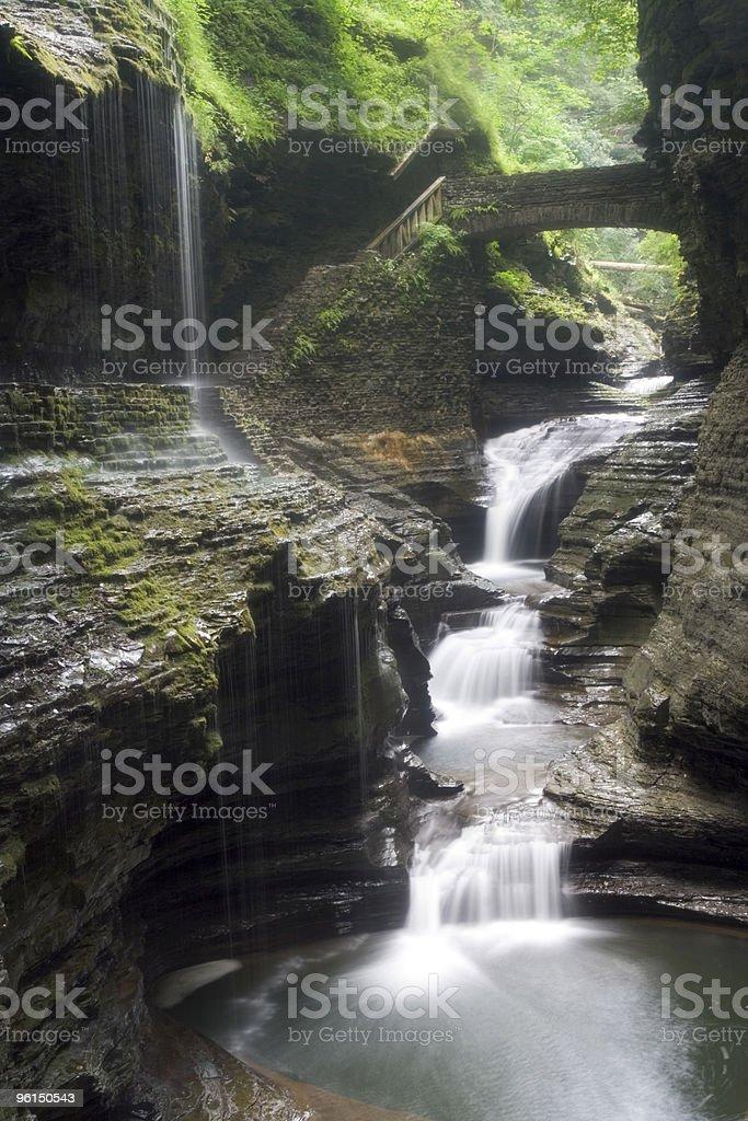Waterfall series stock photo