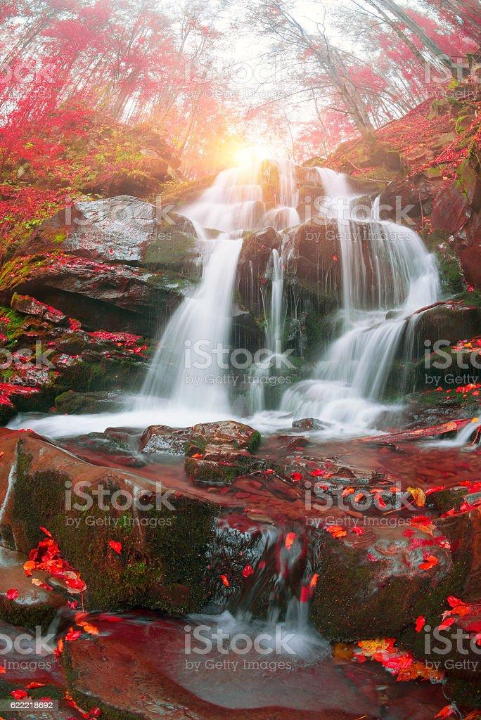 Waterfall Shepit stock photo