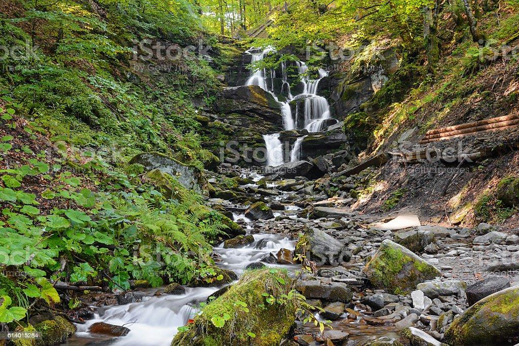 Waterfall Shypit.Cascade. stock photo