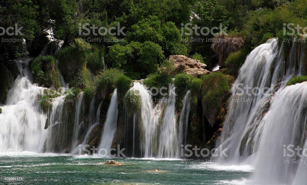Waterfall Skradinski Buk stock photo