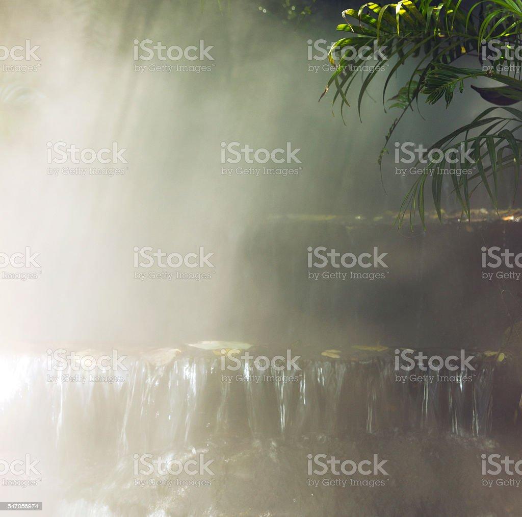waterfall square stock photo