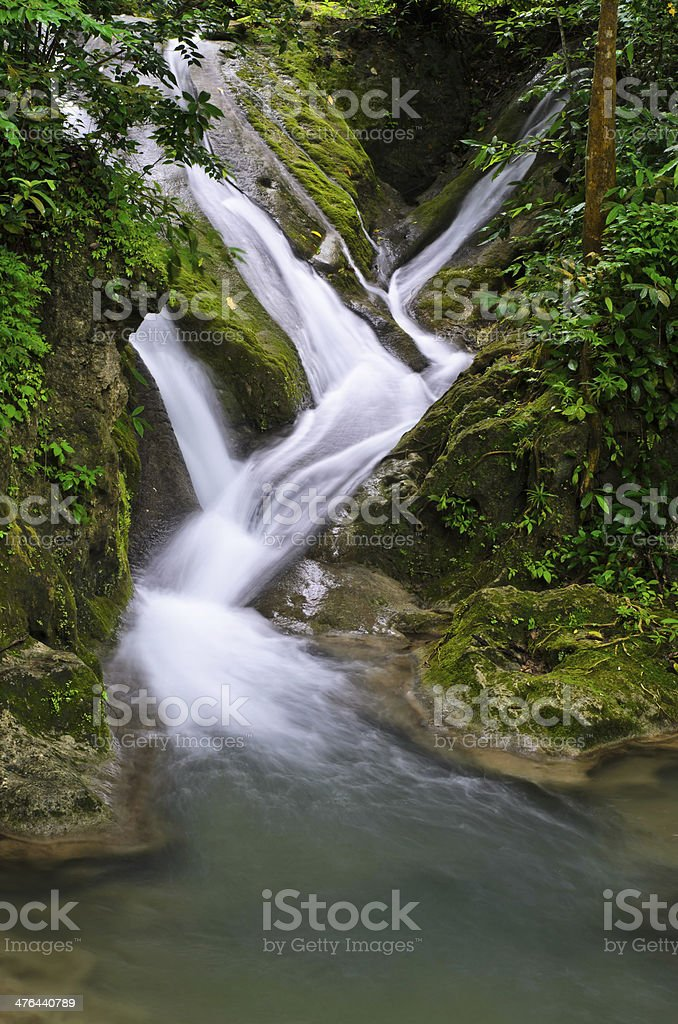 Waterfall stream in Thailand royalty-free stock photo