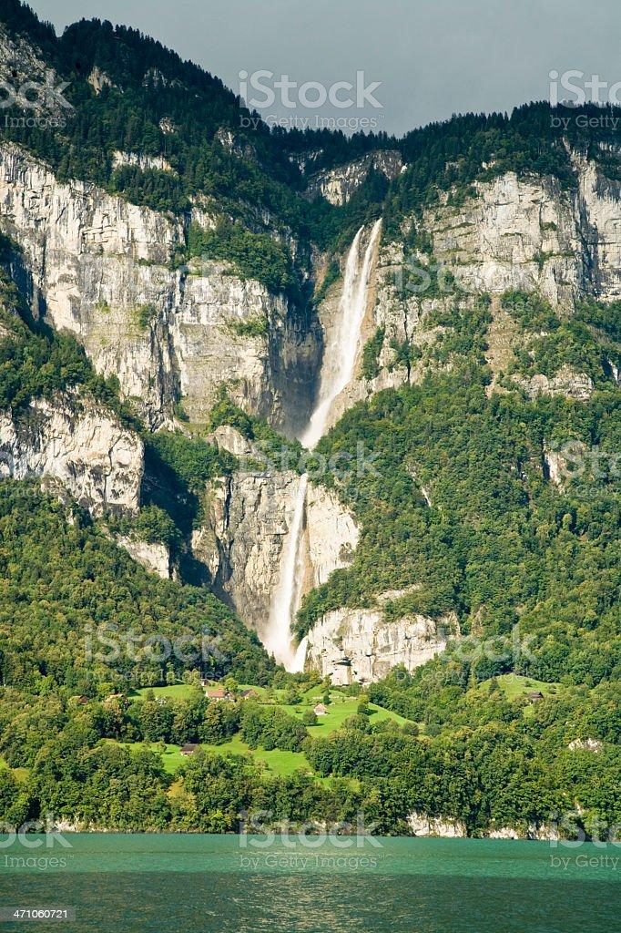 Waterfall Switzerland stock photo