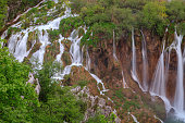 Waterfall the Plitvice Lakes