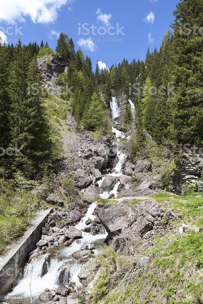 Waterfall, Torrente Padola, Veneto royalty-free stock photo