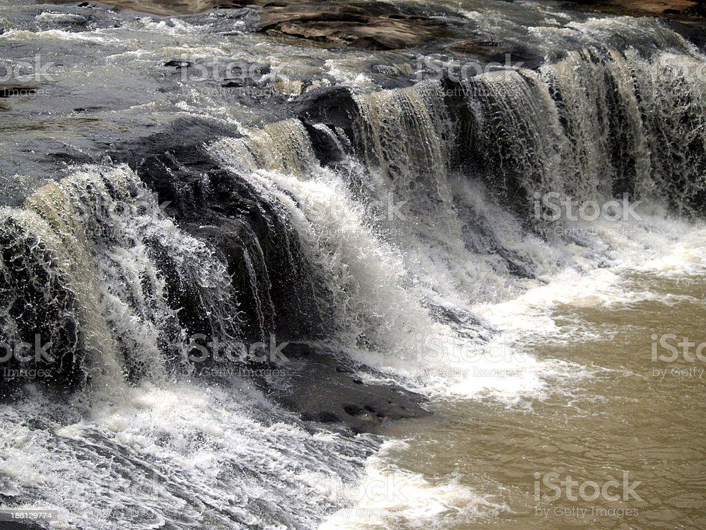 waterfall  UbonRatchathani Thailand royalty-free stock photo