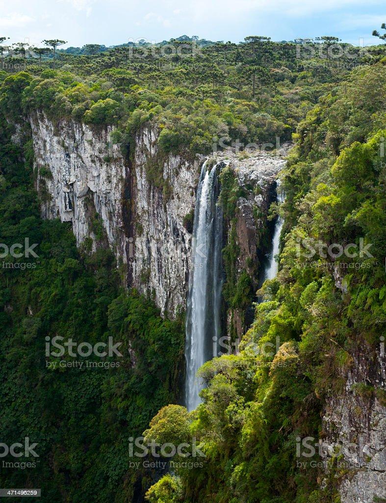 Waterfall 'Veu De Noiva' in Itaimbezinho Canyon, Brazil royalty-free stock photo