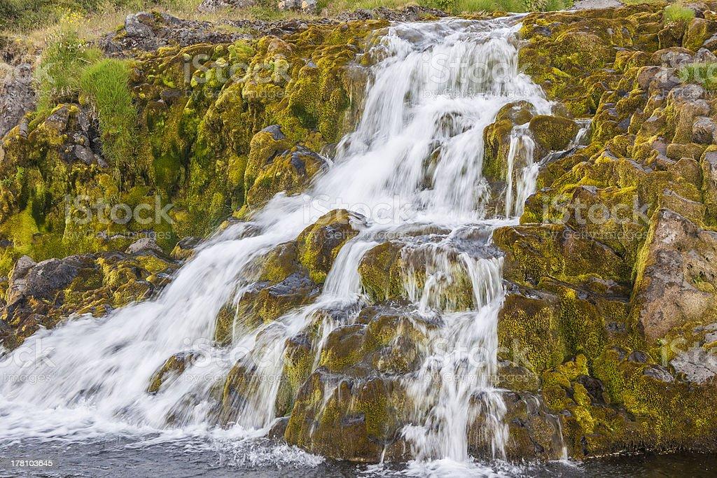 Waterfall - Westfjords, Iceland. royalty-free stock photo
