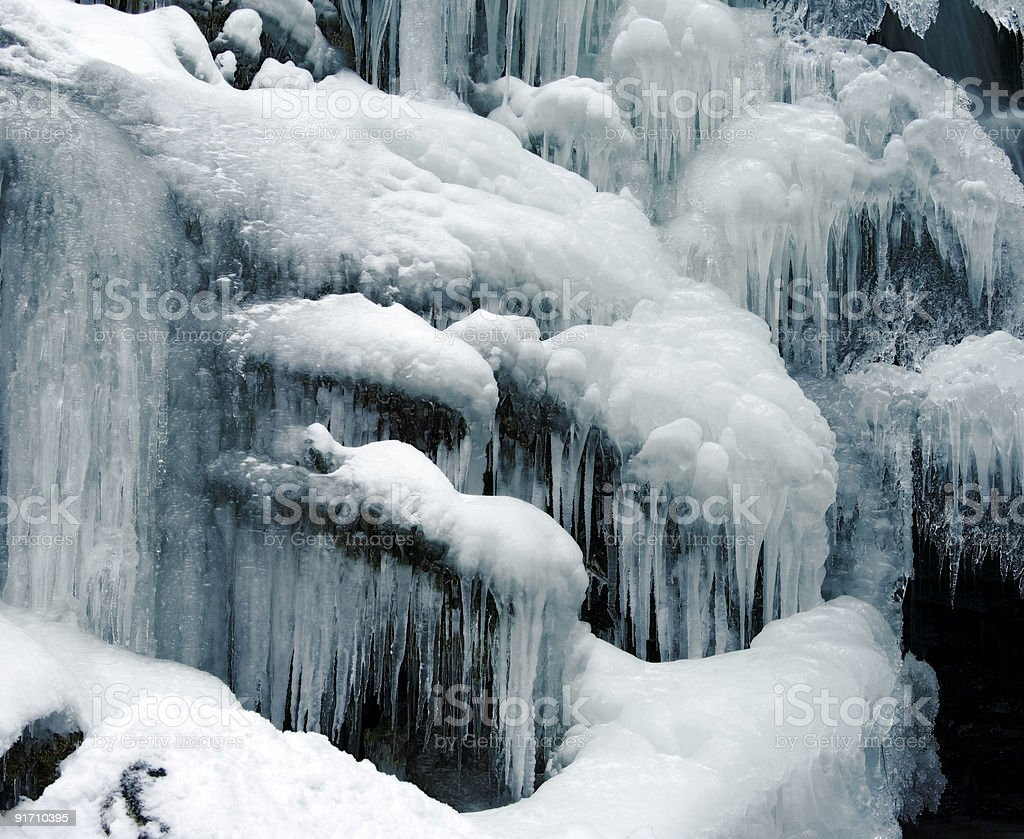 Waterfall winter royalty-free stock photo
