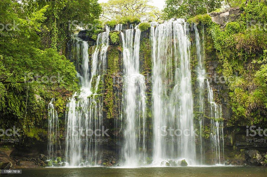 Waterfall-Costa Rica royalty-free stock photo