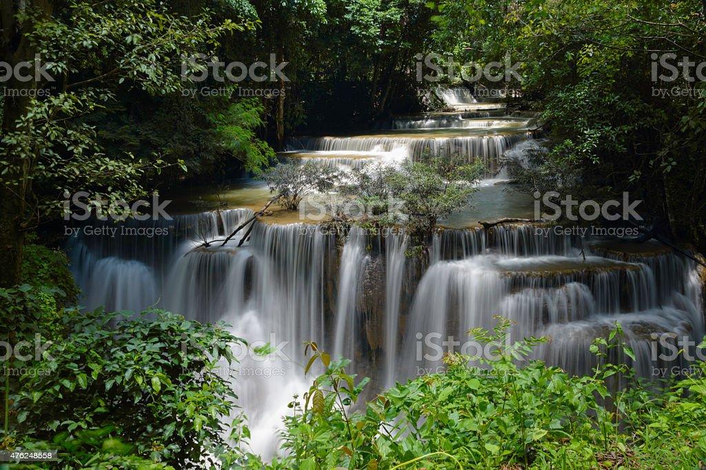 Waterfall,Huay Mae Khamin, Kanchanaburi Province, Thailand royalty-free stock photo