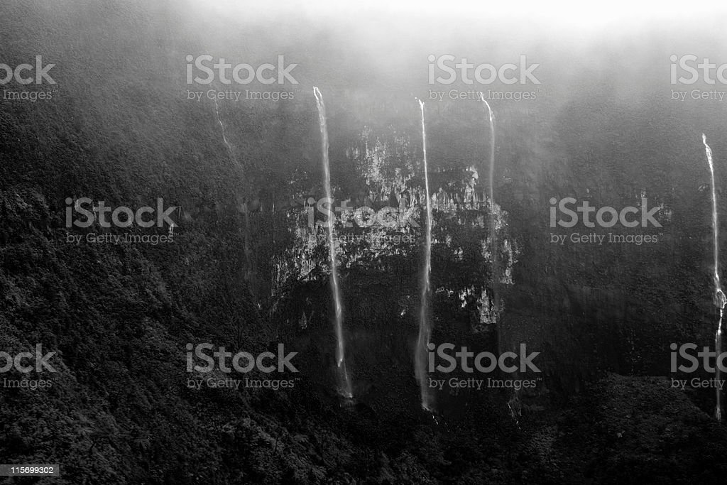 Waterfalls and mist stock photo