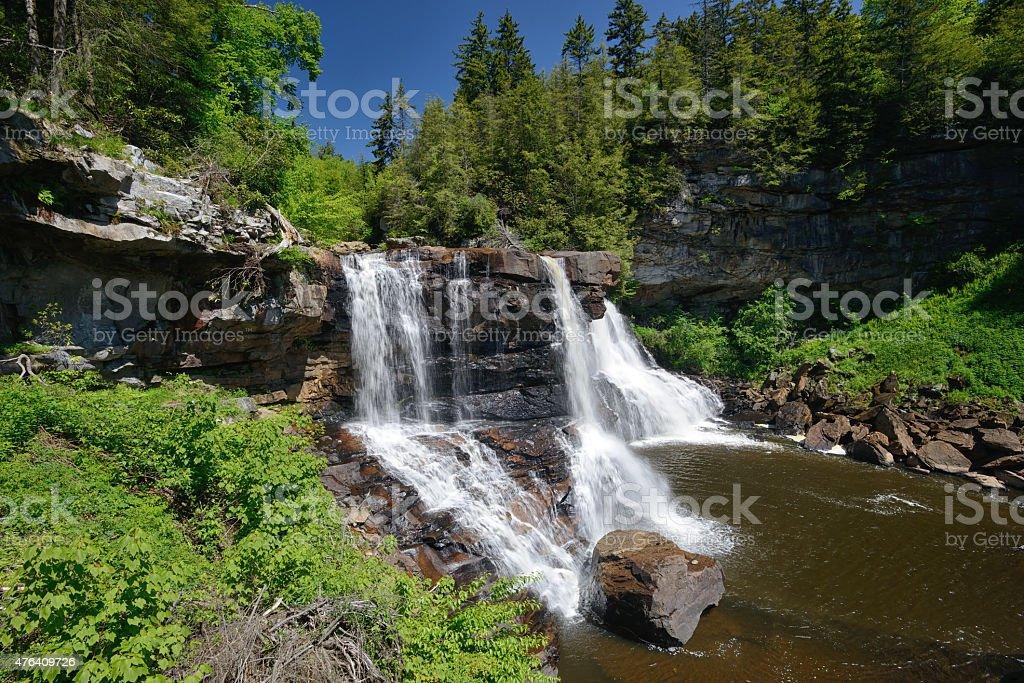 Waterfalls at Blackwater Falls State Park stock photo