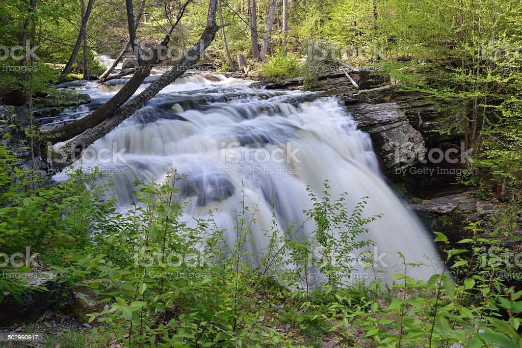 Waterfalls at Delaware Water Gap NRA stock photo