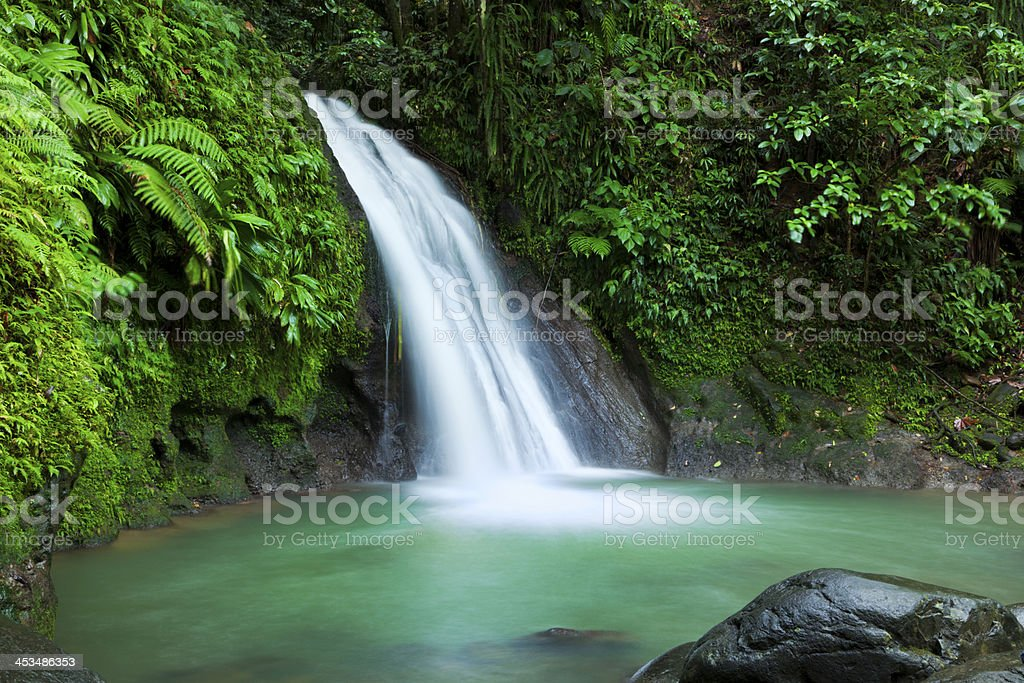 Cascades aux Ecrevisses waterfall, Guadeloupe stock photo