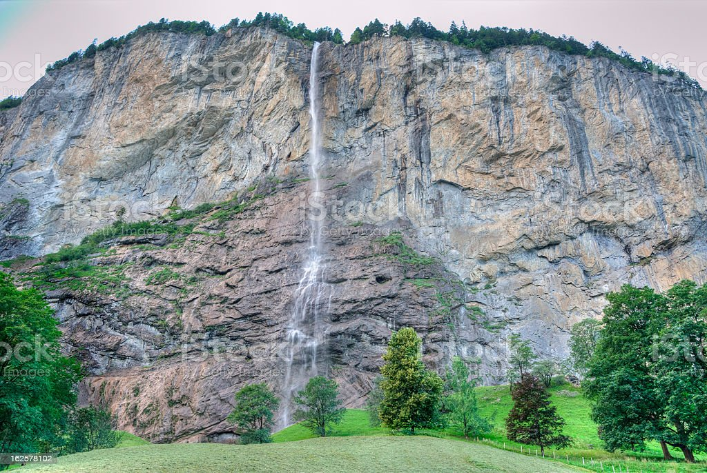 Waterfalls at Lauterbrunnen, Switzerland royalty-free stock photo