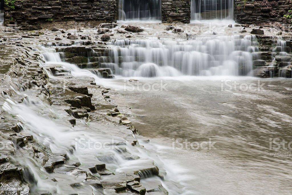Waterfalls at Robert H. Treman State Park stock photo