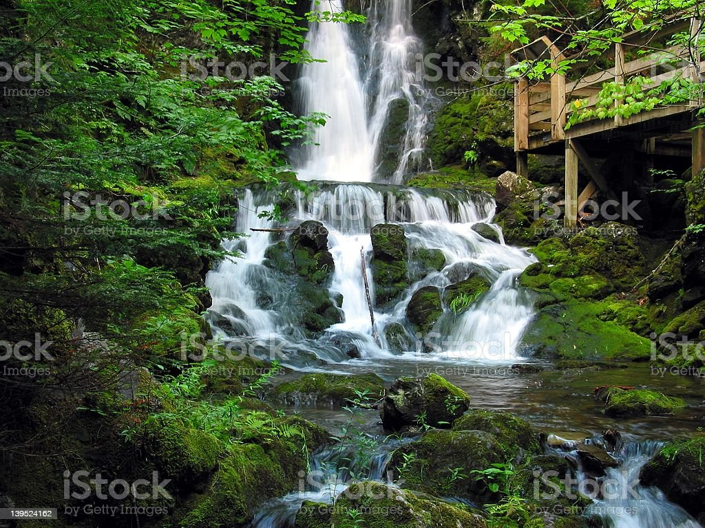 Waterfalls, Fundy National Park stock photo