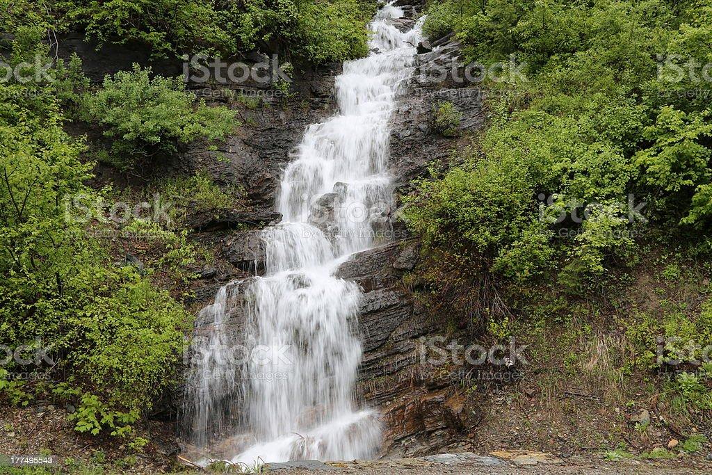 Waterfalls, Glacier National Park royalty-free stock photo