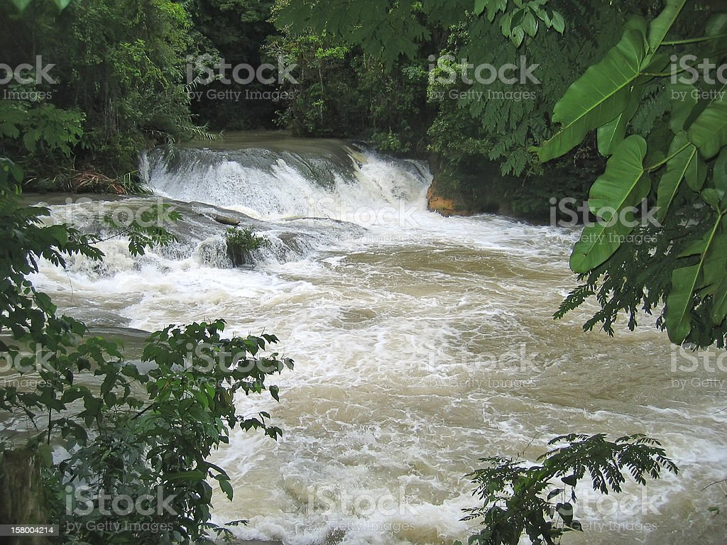 Waterfalls in a river royalty-free stock photo