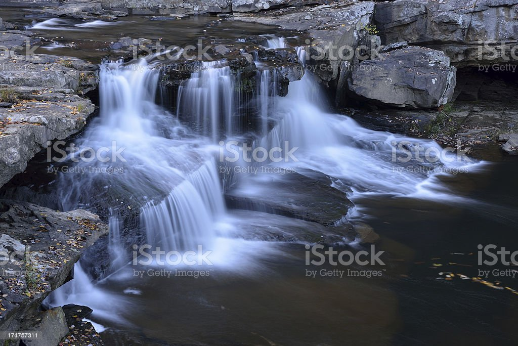 Waterfalls in Babcock State Park royalty-free stock photo
