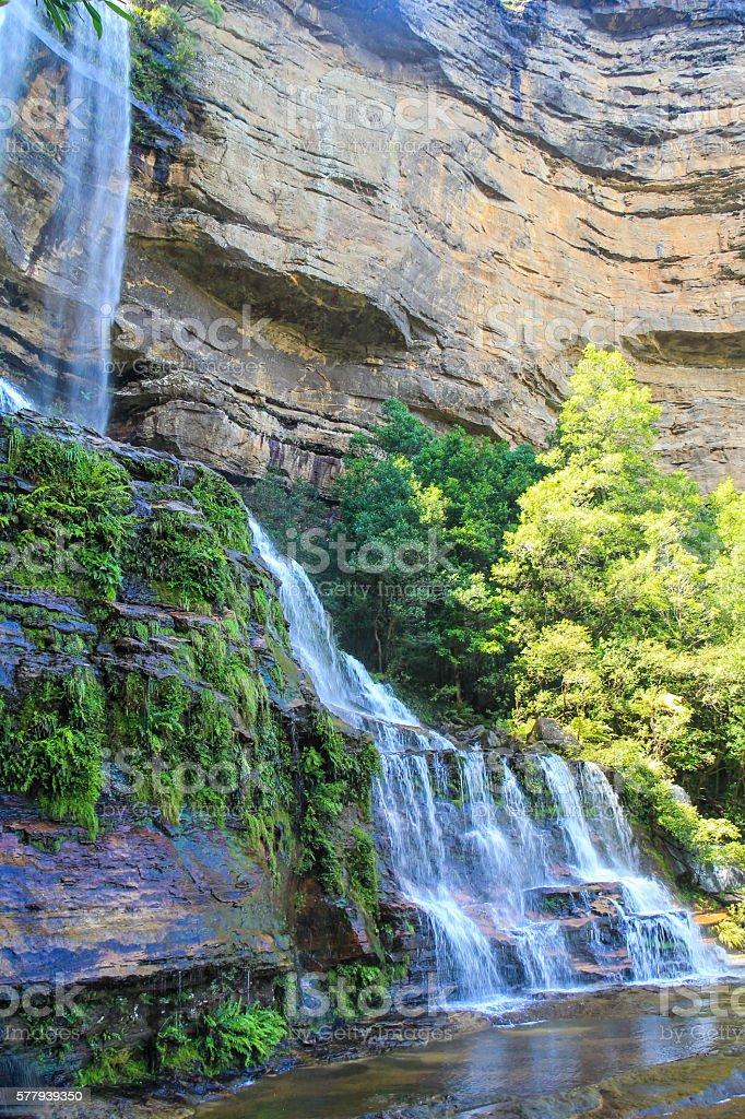 Waterfalls in Blue Mountains National Park Sydney Australia stock photo