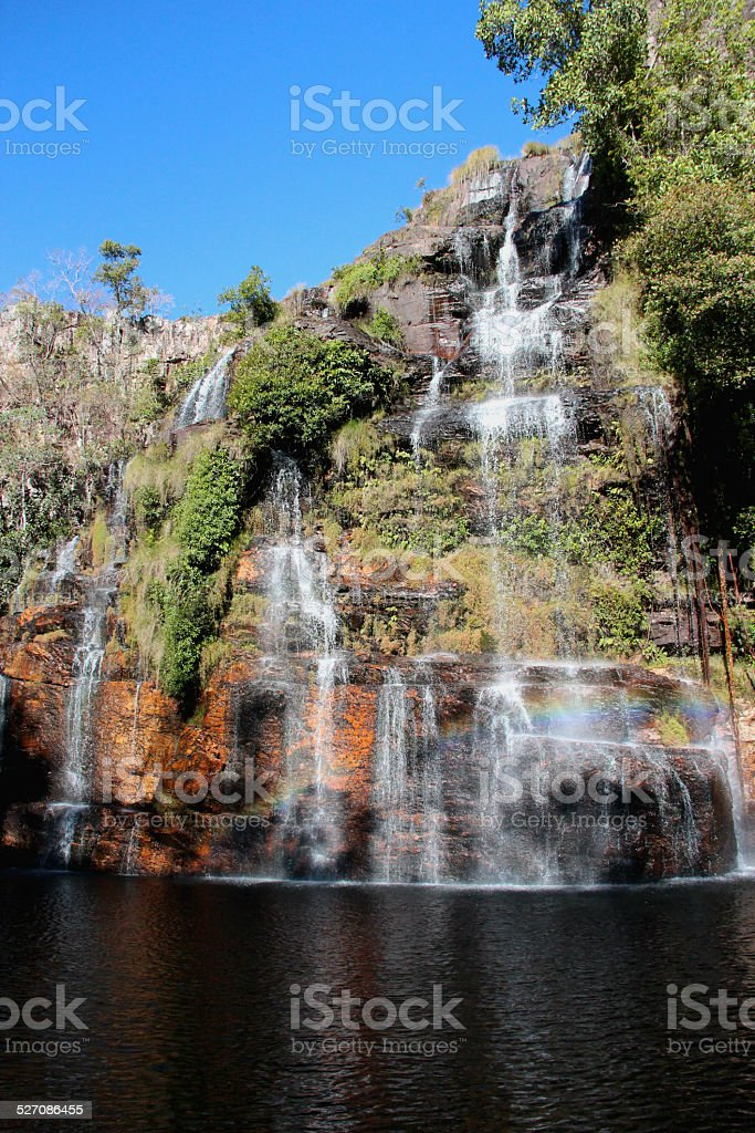 Waterfalls in Chapada dos Veadeiros, a national park in Brazil stock photo