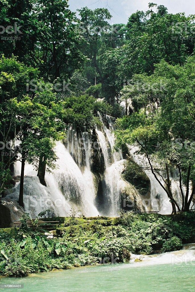 waterfalls in laos stock photo