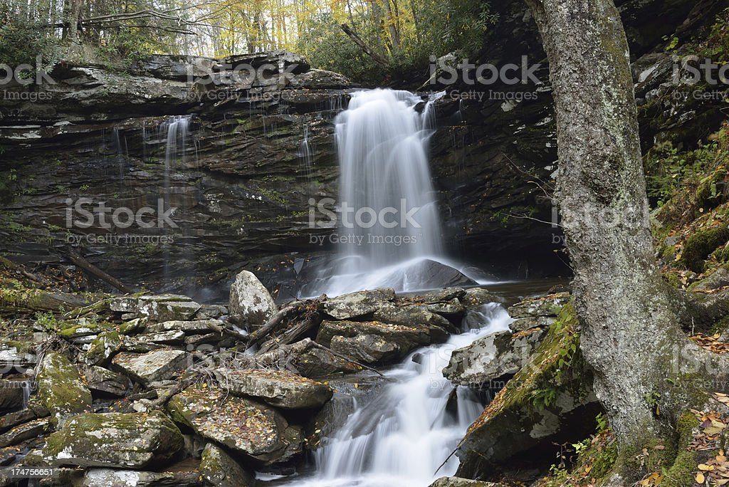 Waterfalls in Monongahela National Forest royalty-free stock photo
