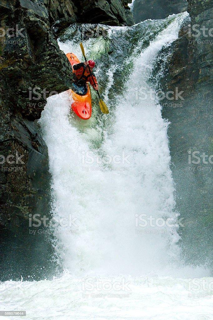 Waterfalls in Norway stock photo