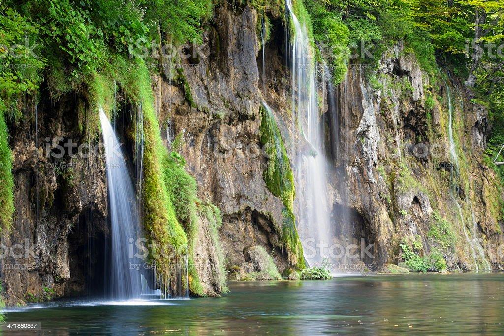 Waterfalls in Plitvice Lakes National Park (Croatia) royalty-free stock photo