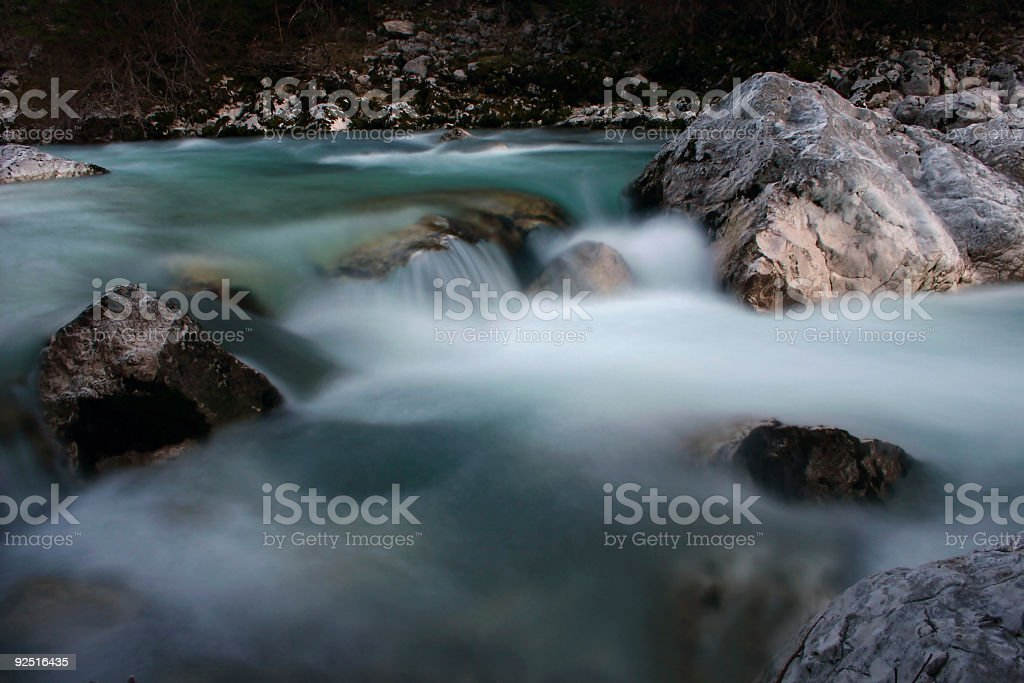 waterfalls in Slovenia - 3 royalty-free stock photo