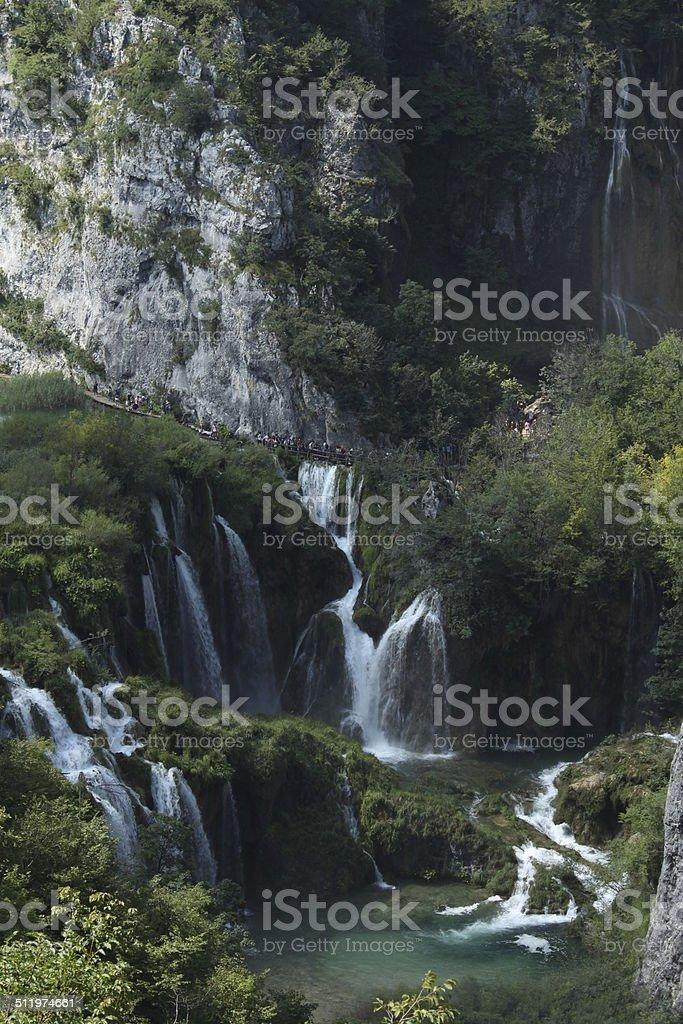 Waterfalls in the forest at Plitvicka Jezera - Plitvice royalty-free stock photo