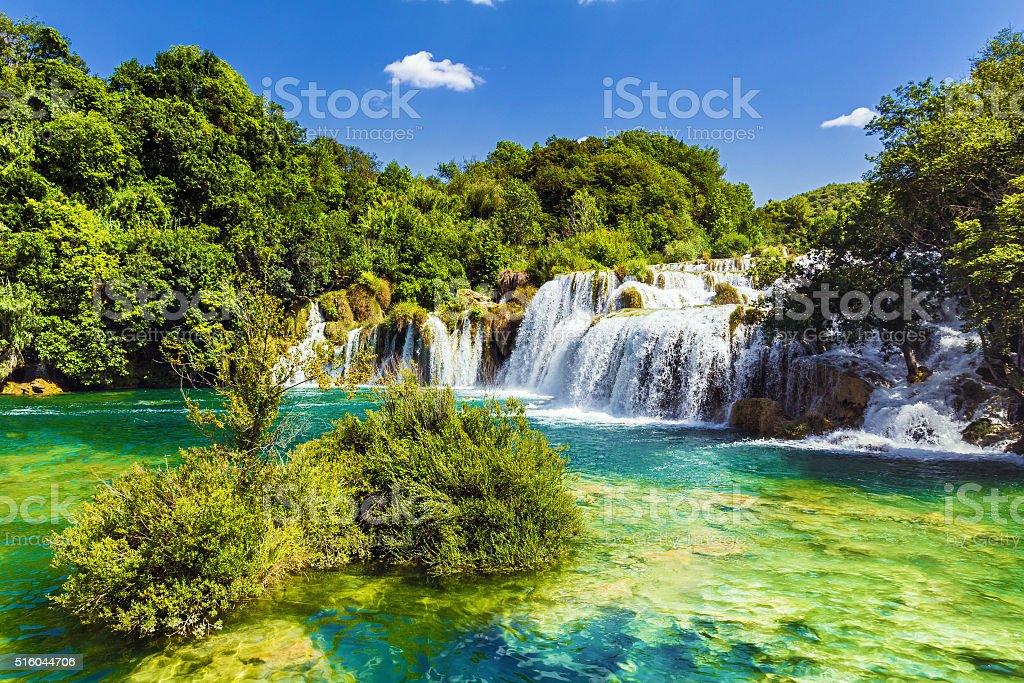 Waterfalls Krka, Croatia stock photo