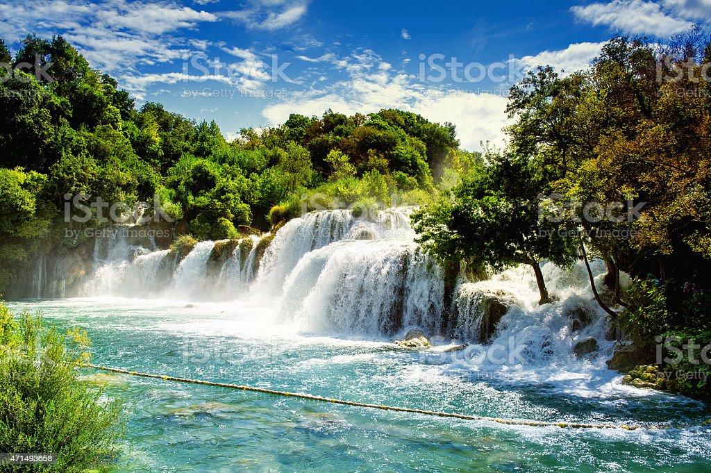 Waterfalls Krka stock photo