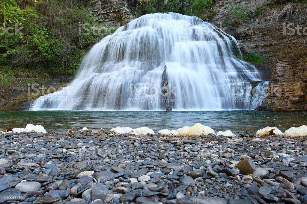 Waterfalls near Ithaca, New York stock photo