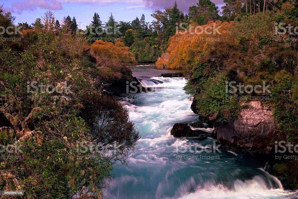 waterfalls  New Zealand stock photo