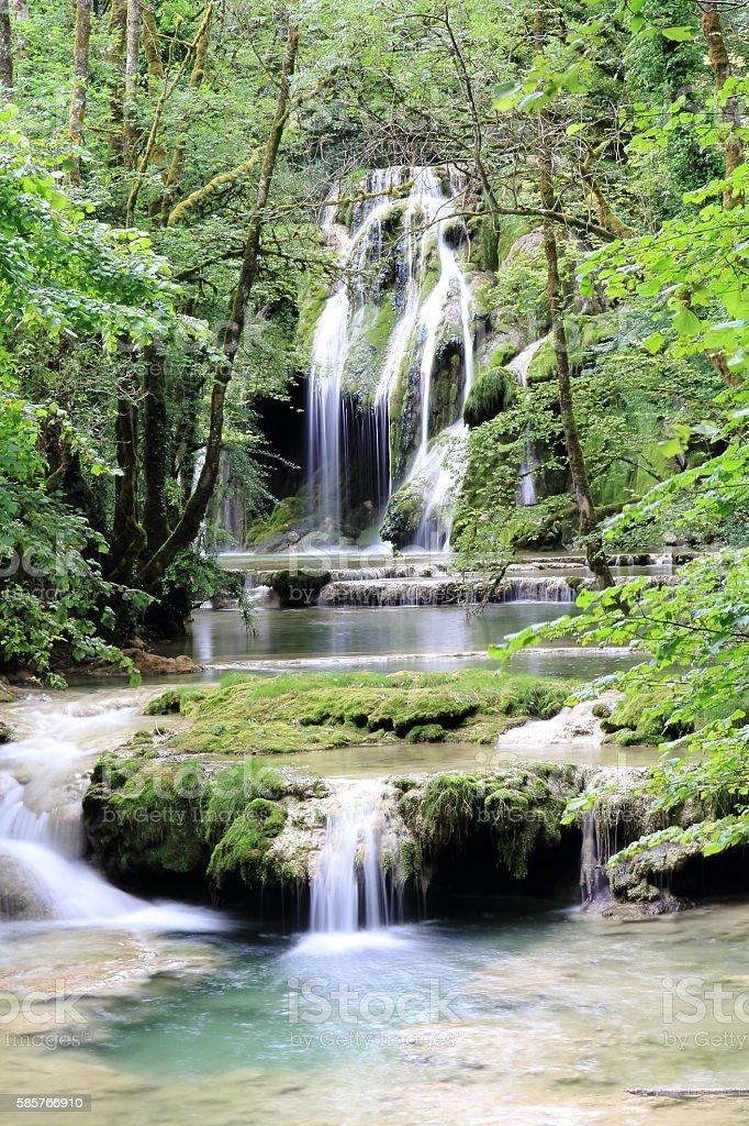 Waterfalls of Arbois stock photo