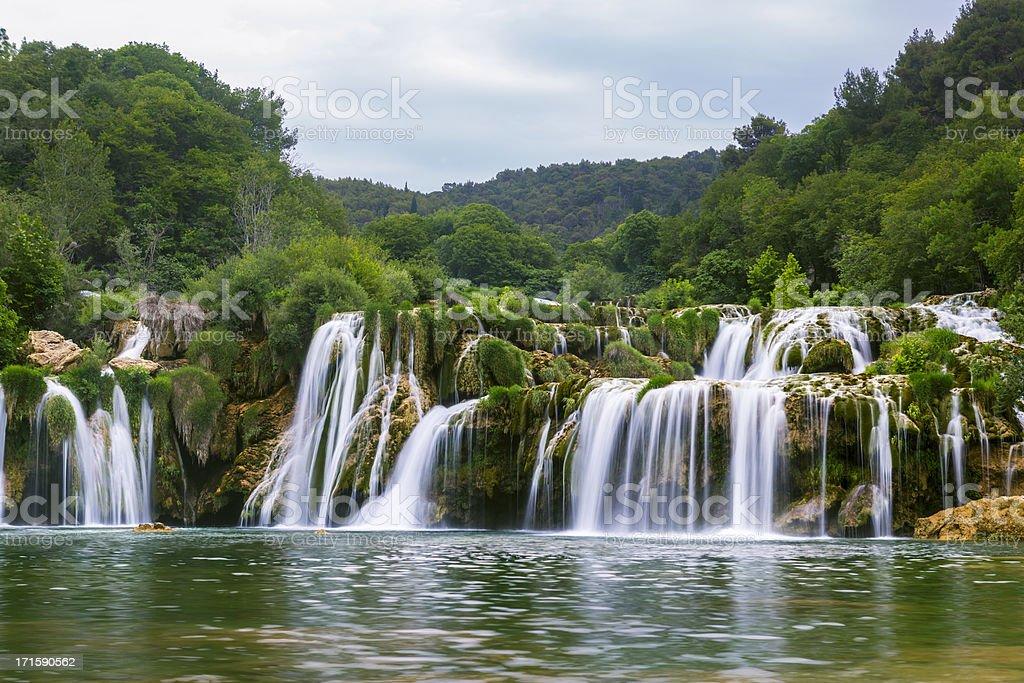 Waterfalls of Krka river stock photo